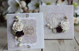 Kartka ślubna z personalizacją i pudełko 2