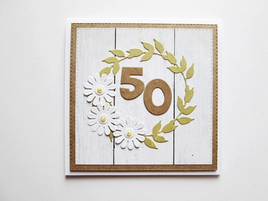 Kartka NA URODZINY - białe kwiatuszki - Kartka Na Urodziny - białe kwiatuszki