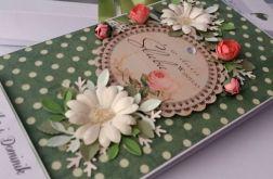 ZIELONA MIŁOŚĆ oryginalna kartka na ślub