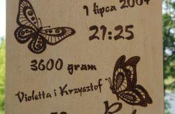 drewniana metryczka 21x30 bierzmowanie roczek