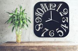NOWOCZESNY zegar CZYTELNY ścianę KWADRAT duży