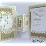 Kartka ślubna składana na prezent