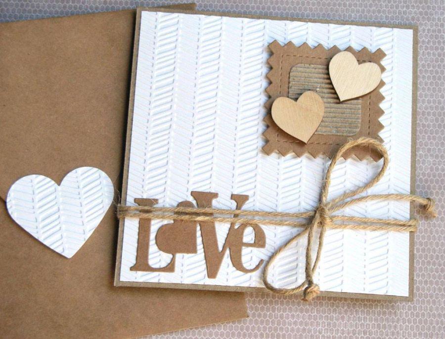 kartka ślubna :: eko :: love