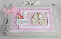 Album z bucikami różowo szary