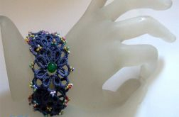 frywolitkowa bransoletka blue