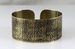 Mosiężna bransoleta - siatka