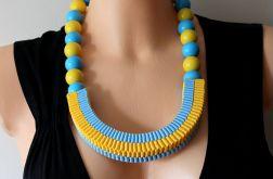 Naszyjnik żółto - niebieski nr 1