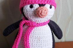 Pingwin amigurumi szydełkowy