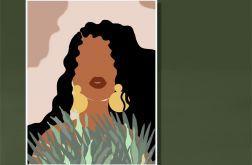 Grafika Afrykańska Kobieta