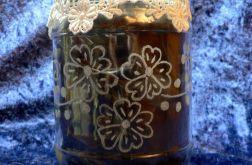 Lampion grawerowany (kwiaty)