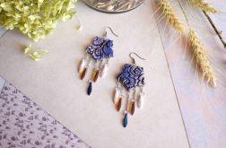 Kolczyki Mandala w odcieniach fioletu