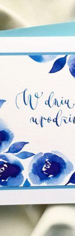 urodzinowa niebieskie róże