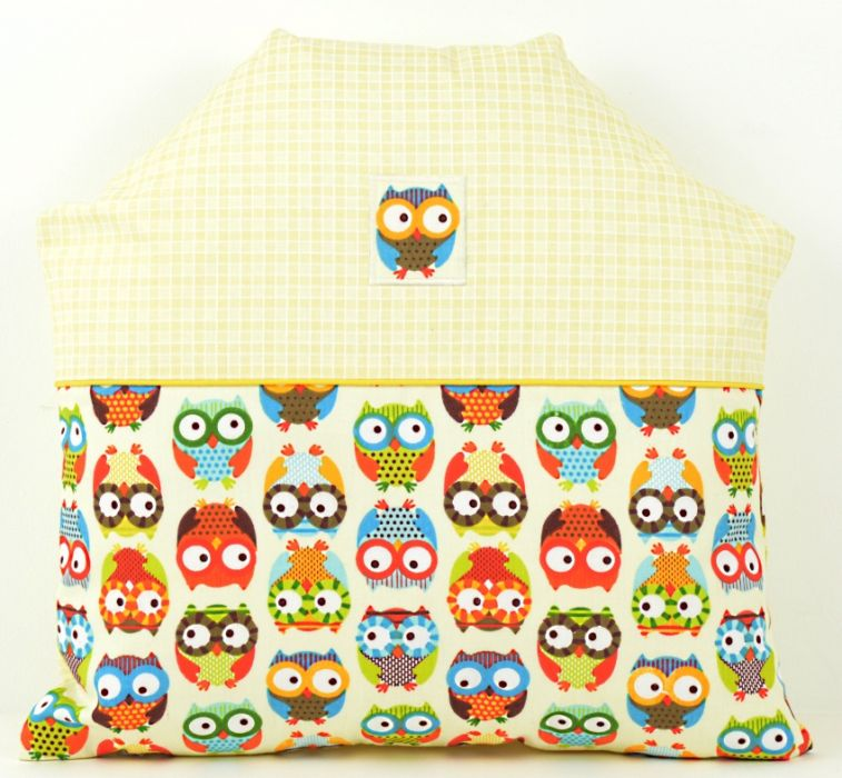 Poduszka dla dziecka 40x40 Domek sowy