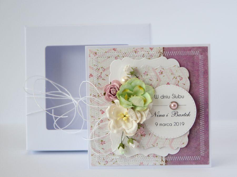 Kartka ślubna z personalizacją + pudełko 7