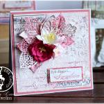 Kartka Ślubna w pudełku z mediowym tłem