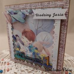 Kartka urodzinowa Pociąg