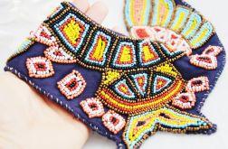 Naszyjnik, etno, aztecki, kolorowy, koraliki