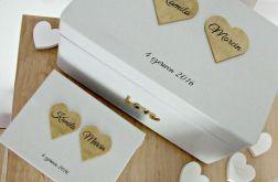 "Ślubny zestaw pudełek ""Cold Romantic GOLD"""