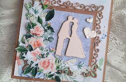 kartka ślubna błękitna