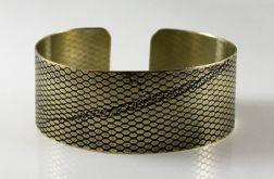 Mosiężna bransoleta - siateczka 170512-01