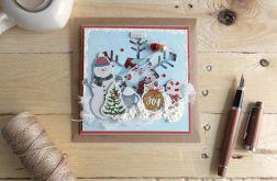 Kartka świąteczna BAŁWAN SHAKER #2
