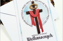 Kartki wielkanocne z krzyżem