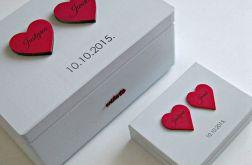 "Ślubny zestaw pudełek ""Cold Romantic Rose"""