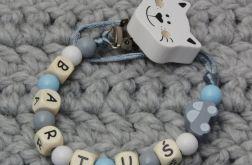 Łańcuszek zawieszka do smoczka z imieniem #5#