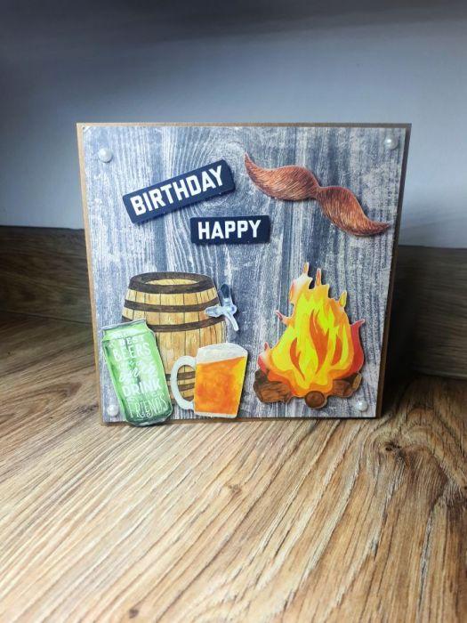 Kartka okolicznościowa #3 piwo piwosz ognisko ogień