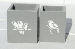 Kubki na długopisy- z ptaszkami