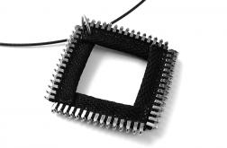 Designerski wisior czarny kwadrat