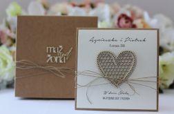 Oryginalna kartka ślubna i pudełko sorte