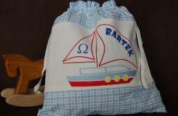 Mały żeglarz - worek na kapcie/strój