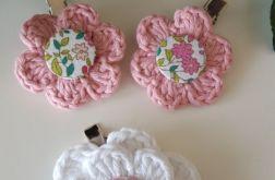 Spineczki białe i różowe