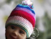 czapka  wesołe  paseczki 3