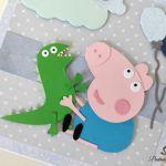 Kartka urodziny 1,2,3 ręcznie robiona Peppa George -