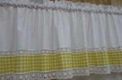 *żółta kratka* Lambrekin 250x50 - wz4