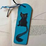 Zakładki malowane - Koty w błękicie 2
