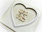 Man&Wife - kartka ślubna w beżu