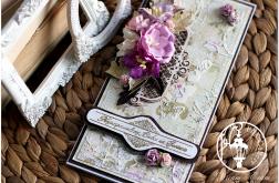 Wielowarstwowa kartka dla Babci 3D z kwiatami