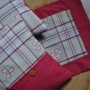 3-elementowy zestaw w norweską kratę i hafty