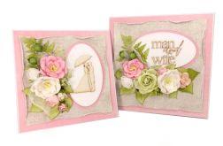 Komplet ślubny - kartka + pudełko - #677
