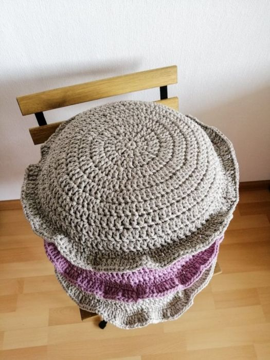 Poduszka dekoracyjna,poduszka okrągła beżowa