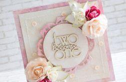 Ślubna morelowo - różowa