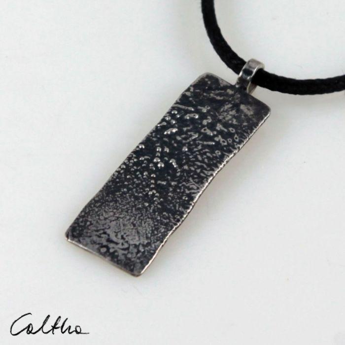 Lawa - srebrny wisiorek 200117-01