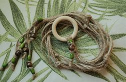 Unikatowy kwietnik makrama naturalny sznurek juta boho