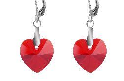 Czerwone serca- kryształy Swarovskiego