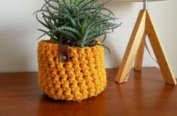 Koszyk ze sznurka bawełnianego żółty,rozm.M