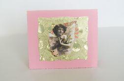 kartka vintage z aniołkiem 1