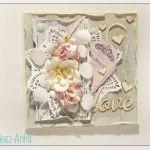 Delikatna kartka na Ślub - LOVE